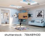 strange  upside down room... | Shutterstock . vector #786489430