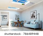 strange  upside down room...   Shutterstock . vector #786489448
