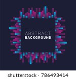 vector abstract background.... | Shutterstock .eps vector #786493414