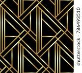 seamless geometric golden art...   Shutterstock .eps vector #786493510
