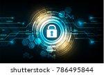 vector cyber security with lock ...   Shutterstock .eps vector #786495844