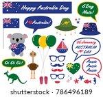 australia day vector photo... | Shutterstock .eps vector #786496189