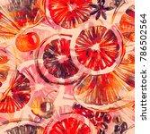 winter mulled wine set mix... | Shutterstock . vector #786502564