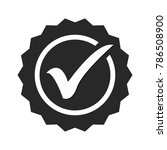 approved or certified medal... | Shutterstock .eps vector #786508900