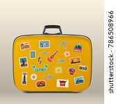 vector travel stickers  labels... | Shutterstock .eps vector #786508966