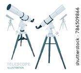 telescope vector illustrations... | Shutterstock .eps vector #786509866