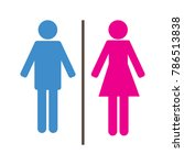 male and female symbol toilet... | Shutterstock .eps vector #786513838