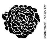 flower rose  black and white.... | Shutterstock .eps vector #786529129