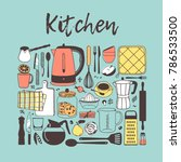 hand drawn illustration cooking ... | Shutterstock .eps vector #786533500