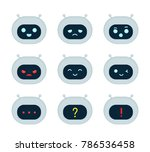 cute robot bot face emotion... | Shutterstock .eps vector #786536458