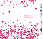 pink and red hearts on a white... | Shutterstock .eps vector #786538540