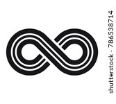 infinity symbol or sign ... | Shutterstock .eps vector #786538714