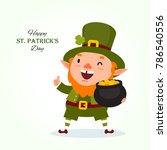 st.patrick 's day. leprechaun... | Shutterstock .eps vector #786540556
