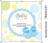 baby shower greeting card | Shutterstock .eps vector #78654187