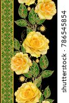 seamless pattern. golden... | Shutterstock . vector #786545854