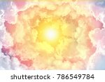 circle white clouds layer as... | Shutterstock . vector #786549784