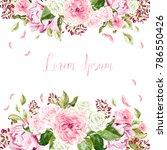 beautiful  wedding card ... | Shutterstock . vector #786550426