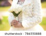 wedding bouquet of white tulips ...   Shutterstock . vector #786550888