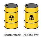 barrel with radioactive and... | Shutterstock .eps vector #786551599
