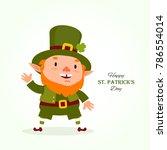 st.patrick 's day. leprechaun   ... | Shutterstock .eps vector #786554014