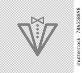 tuxedo vector icon eps 10. suit ... | Shutterstock .eps vector #786558898