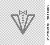 tuxedo vector icon eps 10. suit ... | Shutterstock .eps vector #786558898