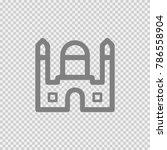 taj mahal indian temple. simple ... | Shutterstock .eps vector #786558904