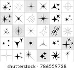 collection of sparkle vector... | Shutterstock .eps vector #786559738