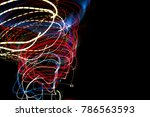 color magic line. abstract... | Shutterstock . vector #786563593