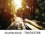 athletic runner running on...   Shutterstock . vector #786563788