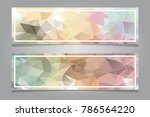 abstract blank banners for... | Shutterstock .eps vector #786564220