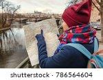december 2017  prague  czech...   Shutterstock . vector #786564604