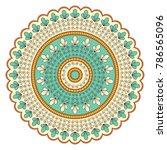 ethnic ornamental mandala.... | Shutterstock . vector #786565096