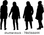 women silhouettes.vector works . | Shutterstock .eps vector #786566644