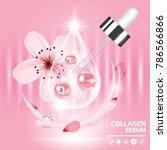 sukura   cherry blossom... | Shutterstock .eps vector #786566866