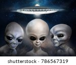 Three Different Grey Aliens On...