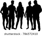 group of people. crowd of... | Shutterstock .eps vector #786572410