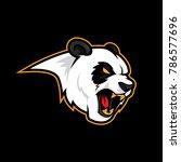 angry panda roar vector logo... | Shutterstock .eps vector #786577696
