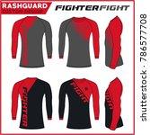 rash guard mma fighter custom... | Shutterstock .eps vector #786577708