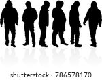 people silhouettes. vector works | Shutterstock .eps vector #786578170