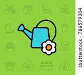 set of gardening tools icons.... | Shutterstock .eps vector #786579304