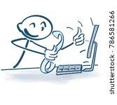 stick figure with sales slip... | Shutterstock .eps vector #786581266