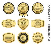 label of best quality and... | Shutterstock .eps vector #786590800