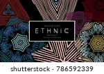 ethnic banners template with... | Shutterstock .eps vector #786592339