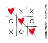 tic tac toe game with criss... | Shutterstock .eps vector #786593098