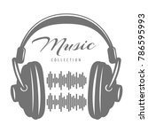 music design concept with... | Shutterstock .eps vector #786595993