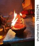 diwali lamps  indian festival   Shutterstock . vector #786601294