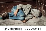 a man is a drug addict with a... | Shutterstock . vector #786603454