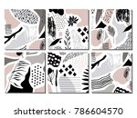 collection of trendy creative... | Shutterstock .eps vector #786604570