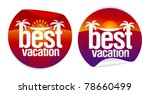 best vacation labels with... | Shutterstock .eps vector #78660499